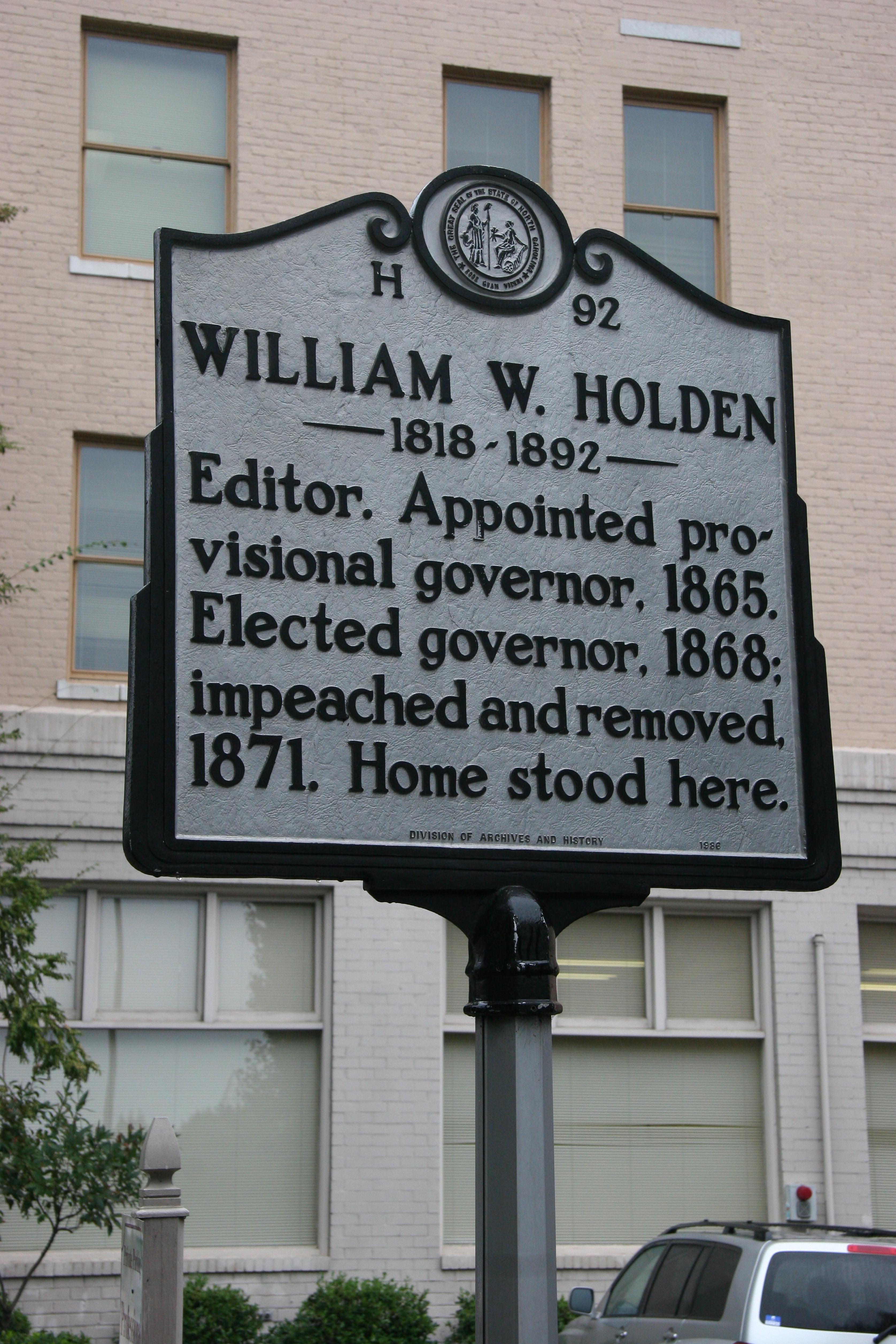 NC-H92 William W  Holden 1818-1892