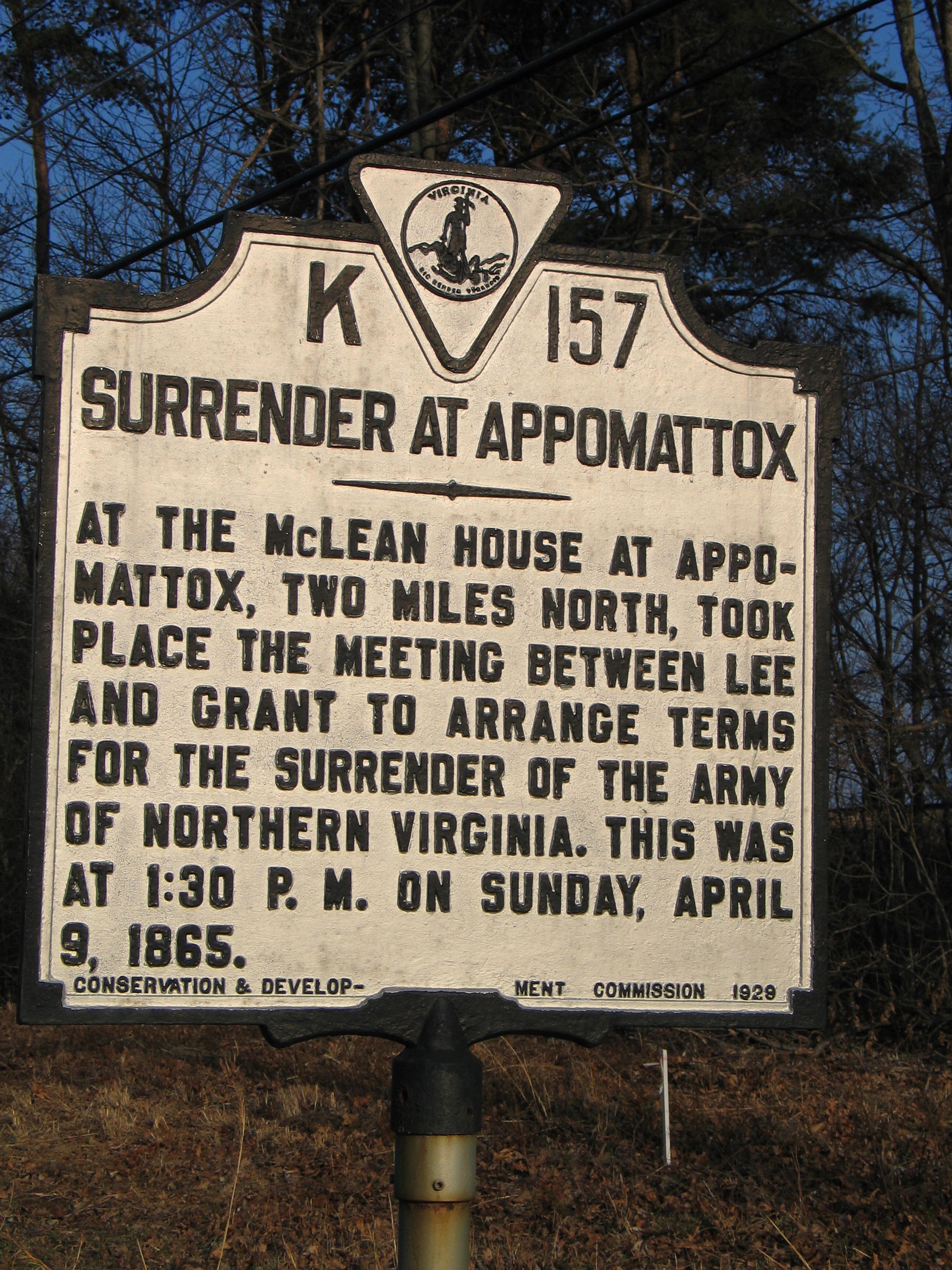 VA-K157 Surrender At Appomattox