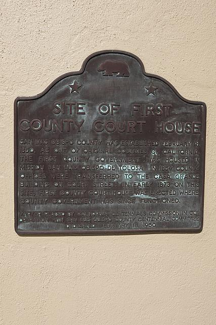 CA-SLO1 Site of First County Court House