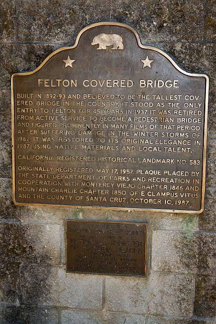 CA-583 Felton Covered Bridge