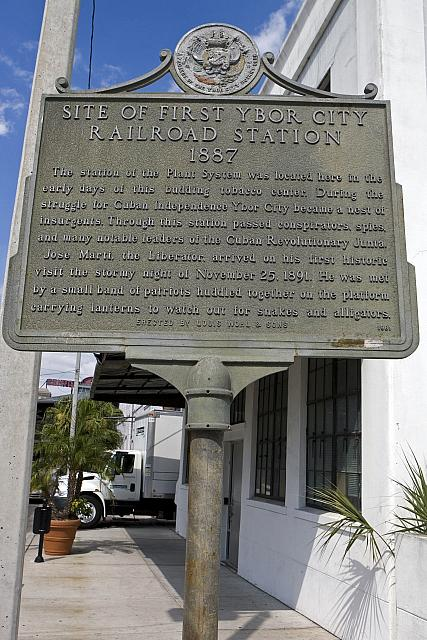 FL-1019 Site of First Ybor City Railroad Station 1887
