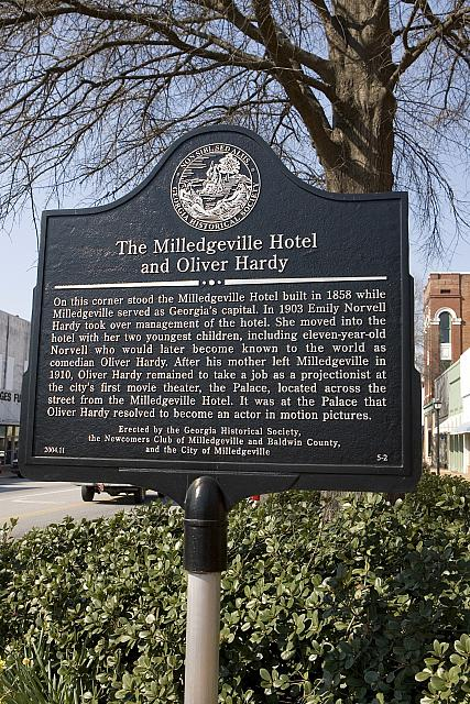GA-005-2 The Milledgeville Hotel and Oliver Hardy