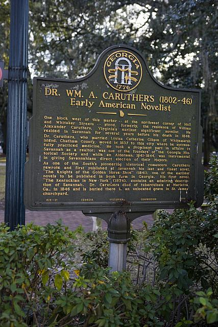 GA-25-31 Dr. Wm. A. Caruthers (1802-46) Early American Novelist