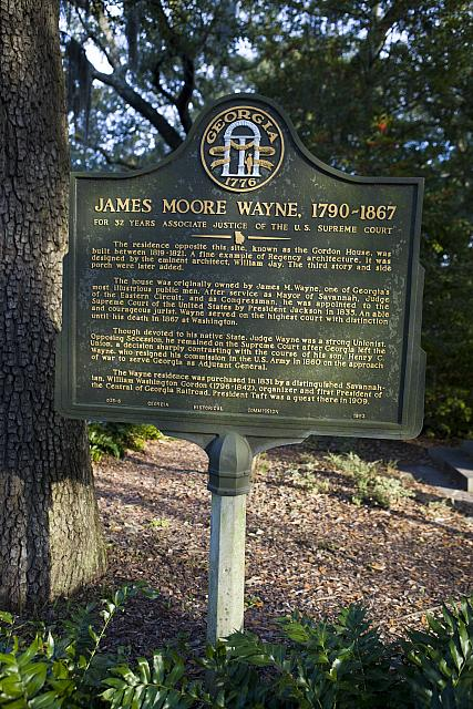 GA-25-6 James Moore Wayne (1790-1867) For 32 Years Associate Justice of the U.S. Supreme Court