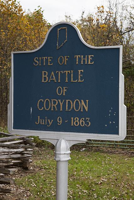 IN-31.1963.1 Site of the Battle of Corydon July 9, 1863