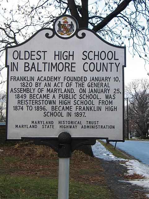 MD-030 Oldest High School in Baltimore County