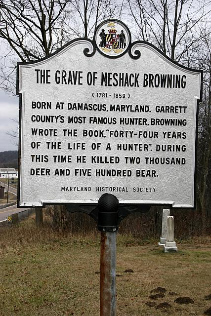 MD-006 The Grave of Meshack Browning (1781-1859)