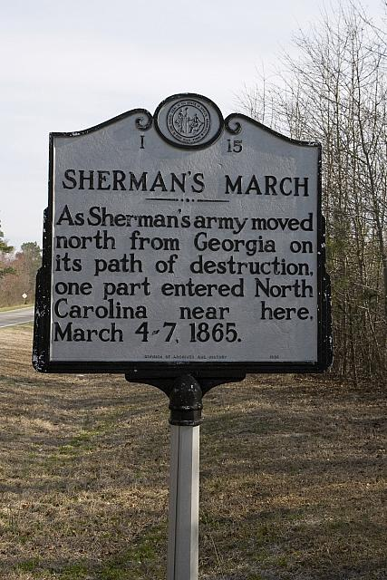 NC-I15 Shermans March