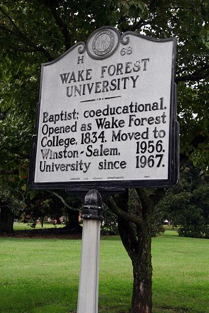 NC-H68 Wake Forest University