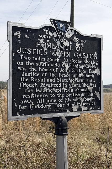 SC-12-4 Home Site of Justice John Gaston