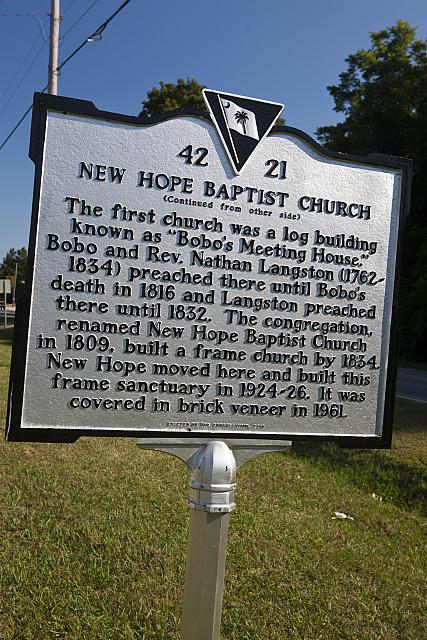 SC-42-21 New Hope Baptist Church