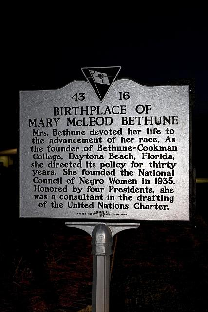 SC-43-16 Birthplace of Mary McLeod Bethune