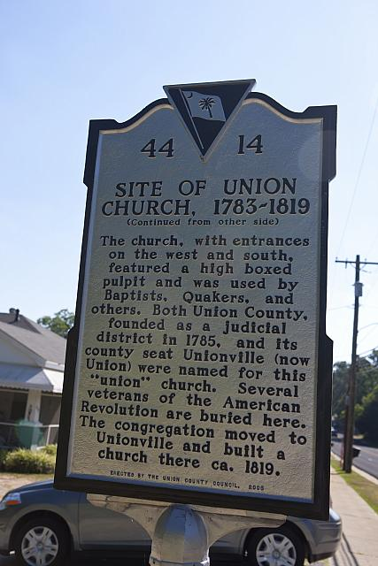 SC-44-14 Site of Union Church 1783-1819 A