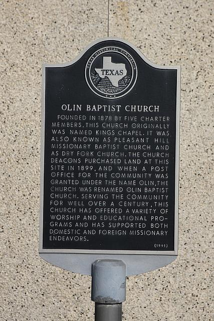 TX-3847 Olin Baptist Church