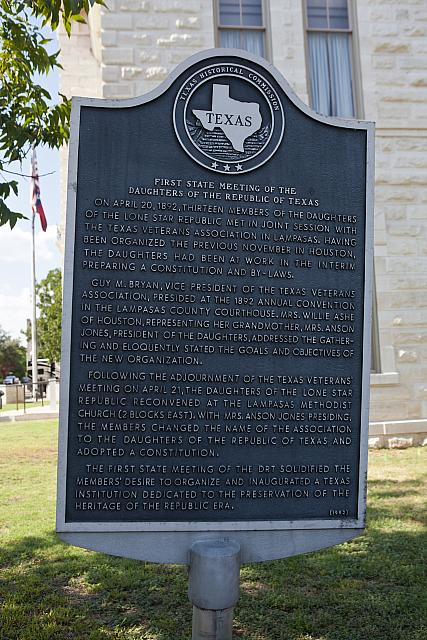TX-1873 First State Meeting of the Daughters of the Republic of Texas