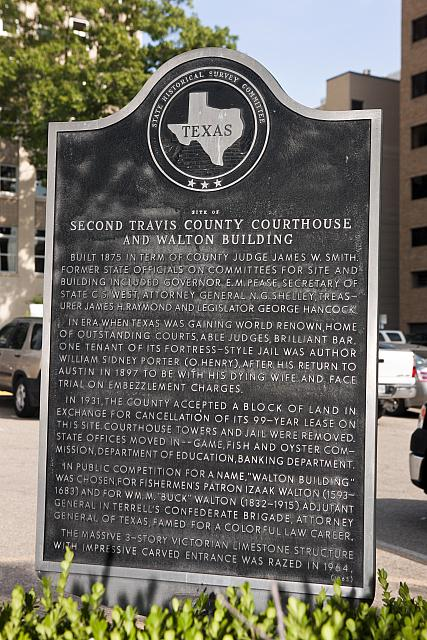 TX-15063 Site of Second Travis County Courthouse and Walton Building