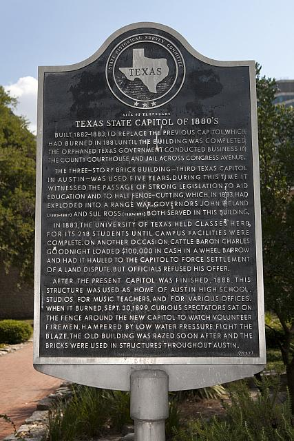 TX-17408 Site of Temporary Texas State Capitol of 1880s