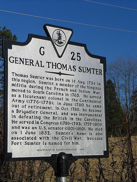 VA-G25 General Thomas Sumter