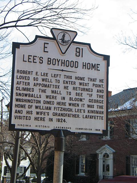 VA-E91 Lees Boyhood Home