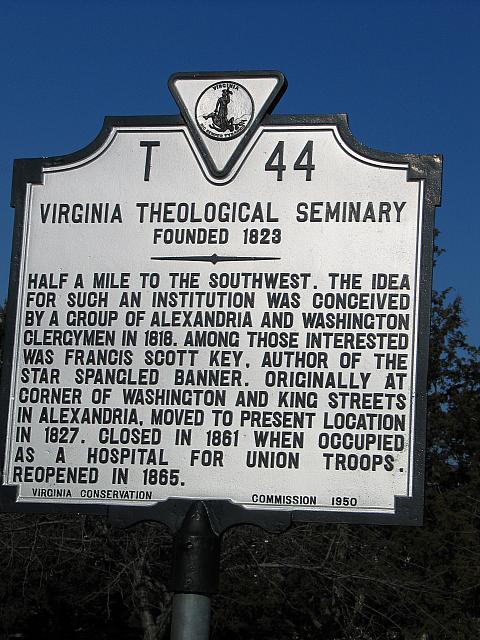 VA-T44 Virginia Theological Seminary Founded 1823