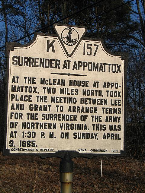 VA-K157 Surrender at Appomattox