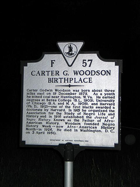 VA-F57 Carter G. Woodson Birthplace
