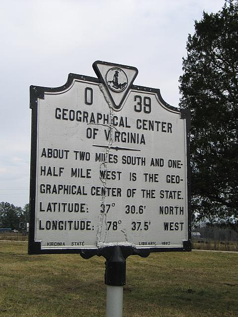 VA-O39 Geographical Center of Virginia