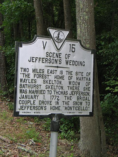 VA-V15 Scene of Jeffersons Wedding