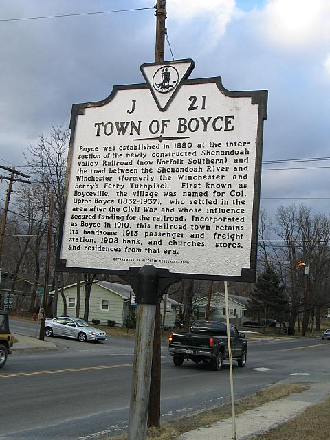 VA-J21 Town of Boyce