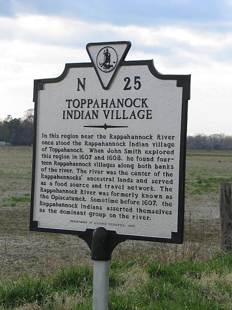 VA-N25 Toppahanock Indian Village