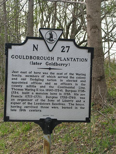 VA-N27 Gouldborough Plantation (later Goldberry)