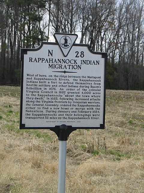 VA-N28 Rappahannock Indian Migration