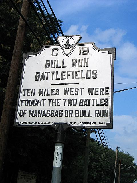 VA-C19 Bull Run Battlefields