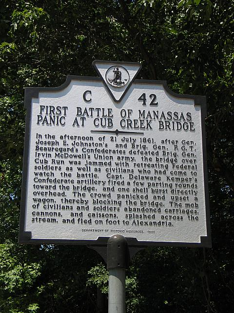 VA-C42 First Battle of Manassas Panic at Cub Creek Bridge