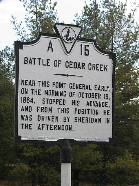 VA-A15 Battle of Cedar Creek