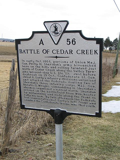VA-A56 Battle of Cedar Creek