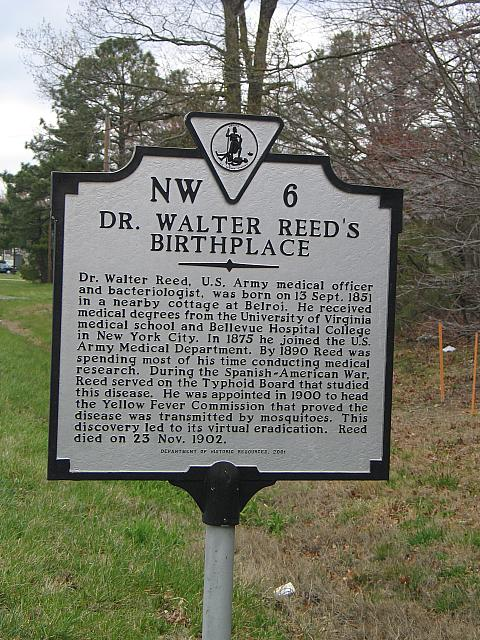 VA-NW6 Dr. Walter Reeds Birthplace