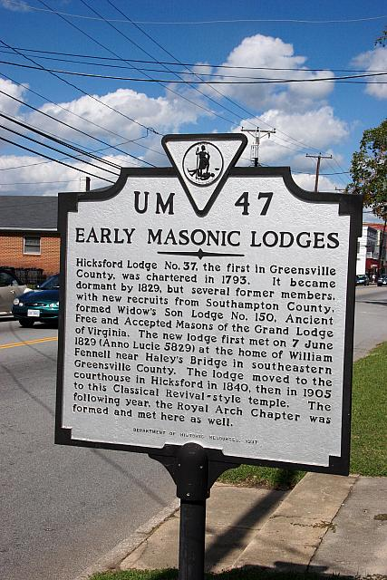 VA-UM47 Early Masonic Lodges