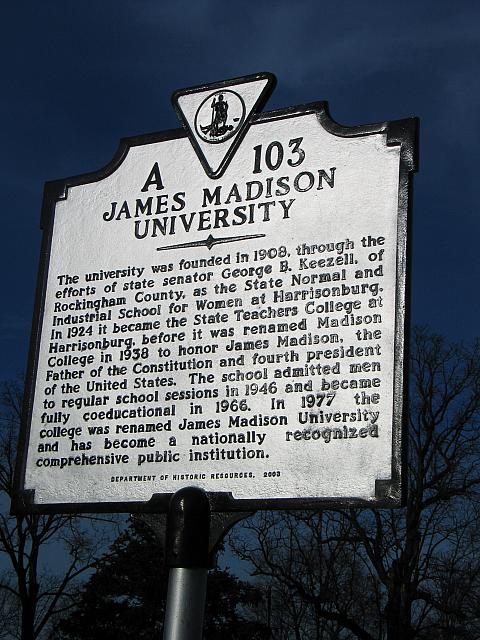 VA-A103 James Madison University
