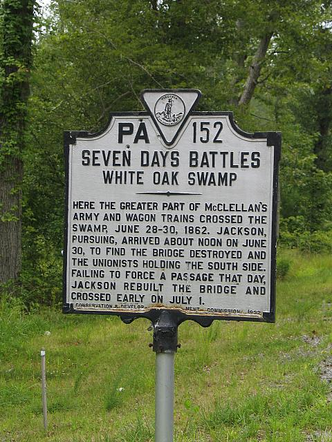 VA-PA152 Seven Days Battles White Oak Swamp
