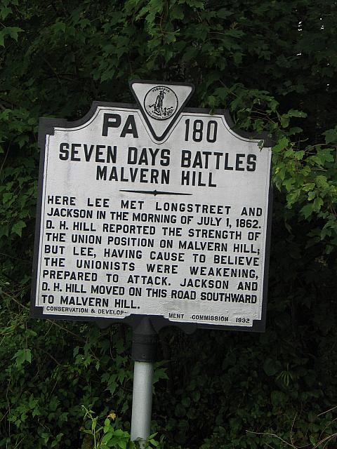 VA-PA180 Seven Days Battles Malvern Hill