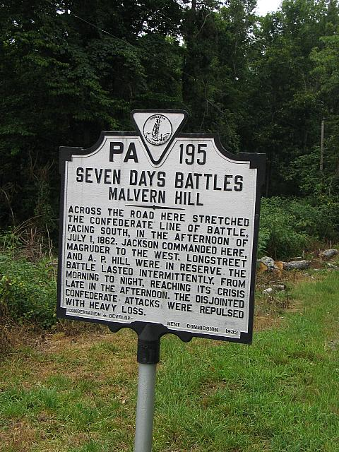 VA-PA195 Seven Days Battles Malvern Hill
