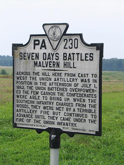 VA-PA230 Seven Days Battles Malvern Hill