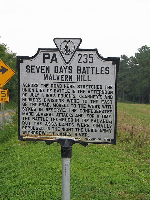 VA-PA235 Seven Days Battles Malvern Hill