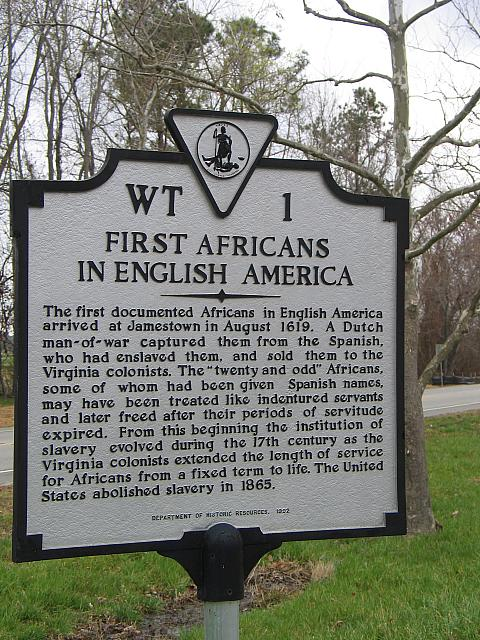 VA-WT1 First Africans in English America