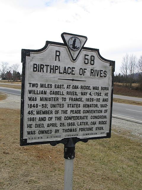 VA-R58 Birthplace of Rives