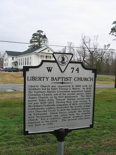 VA-W74 Liberty Baptist Church