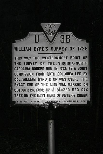 VA-U36 William Byrds Survey of 1728