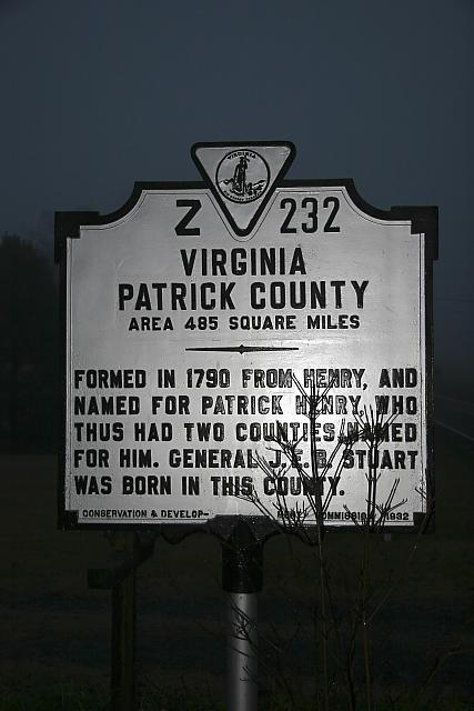 VA-Z232 Virginia Patrick County