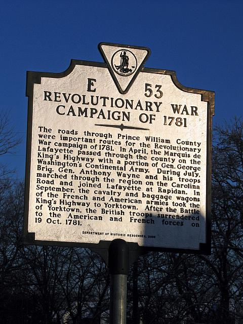 VA-E53 Revolutionary War Campaign of 1781
